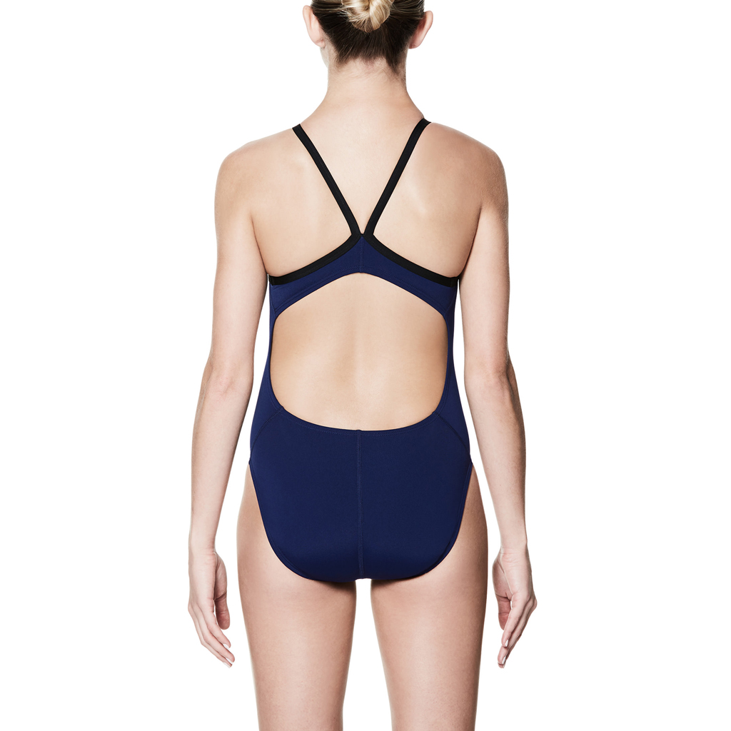 NIKE SOLID RACERBACK SWIMSUIT NAVY (38)