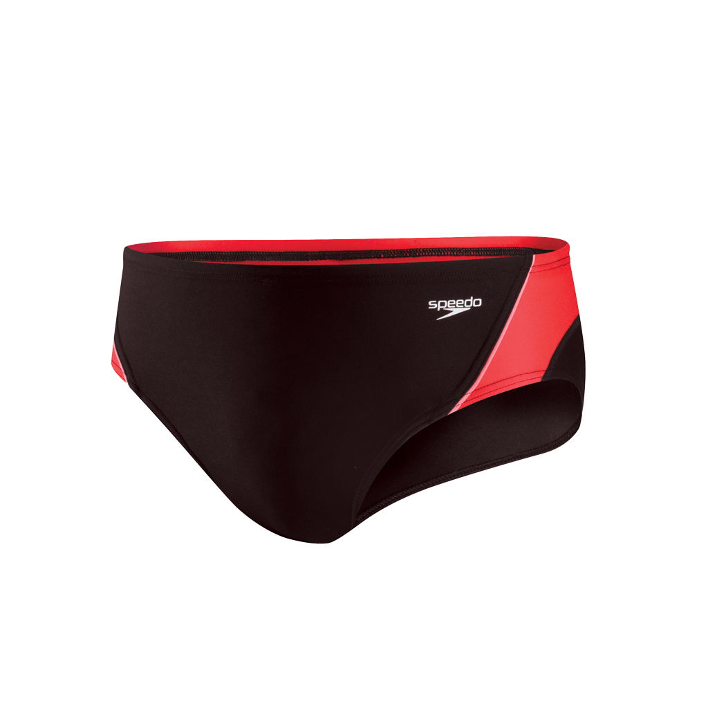 SPEEDO LAUNCH SPLICE BRIEF RED (30)