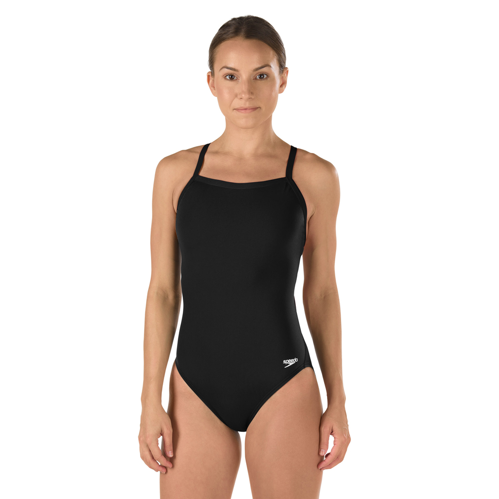 SPEEDO FLYBACK SWIMSUIT BLACK (36)