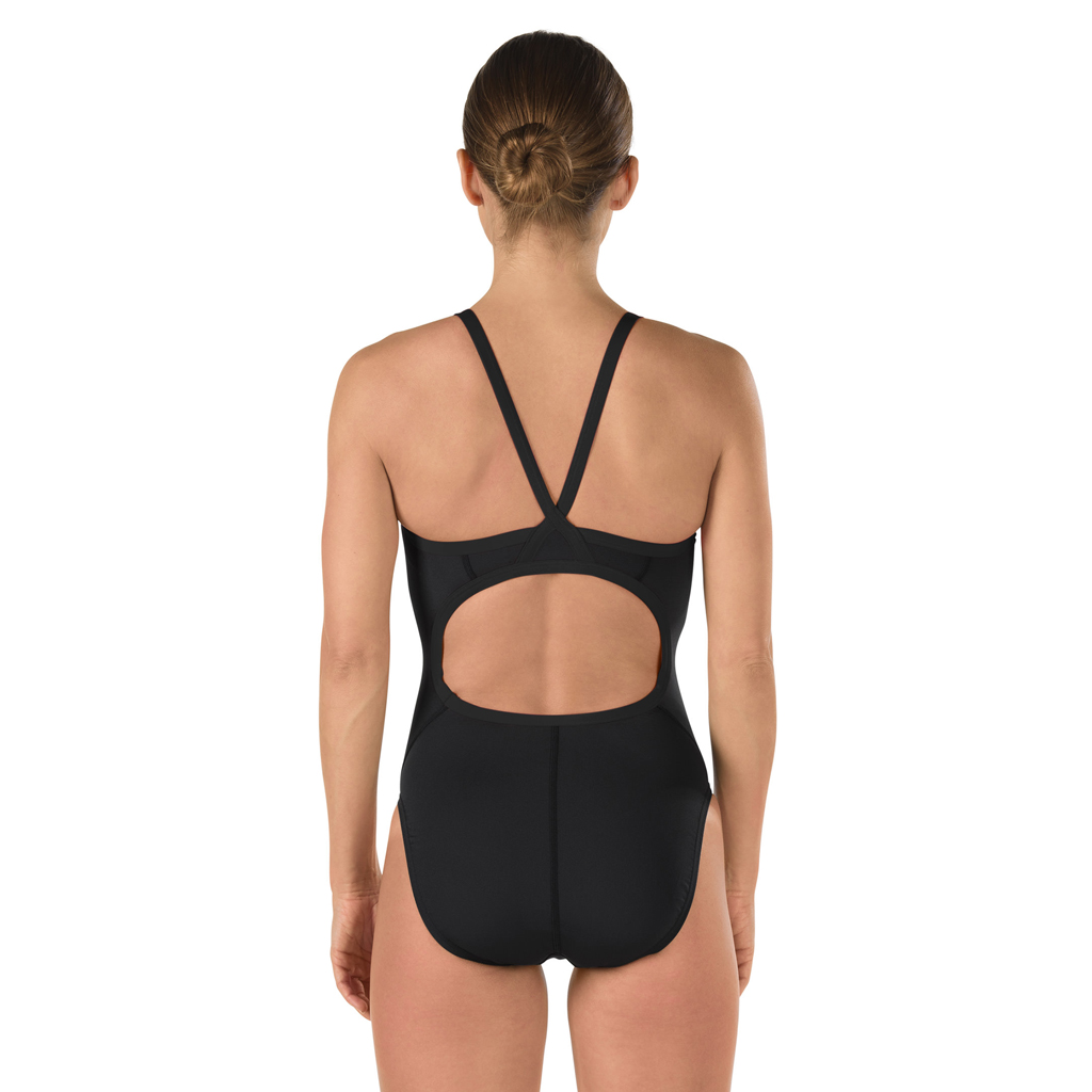 SPEEDO FLYBACK SWIMSUIT BLACK (40)