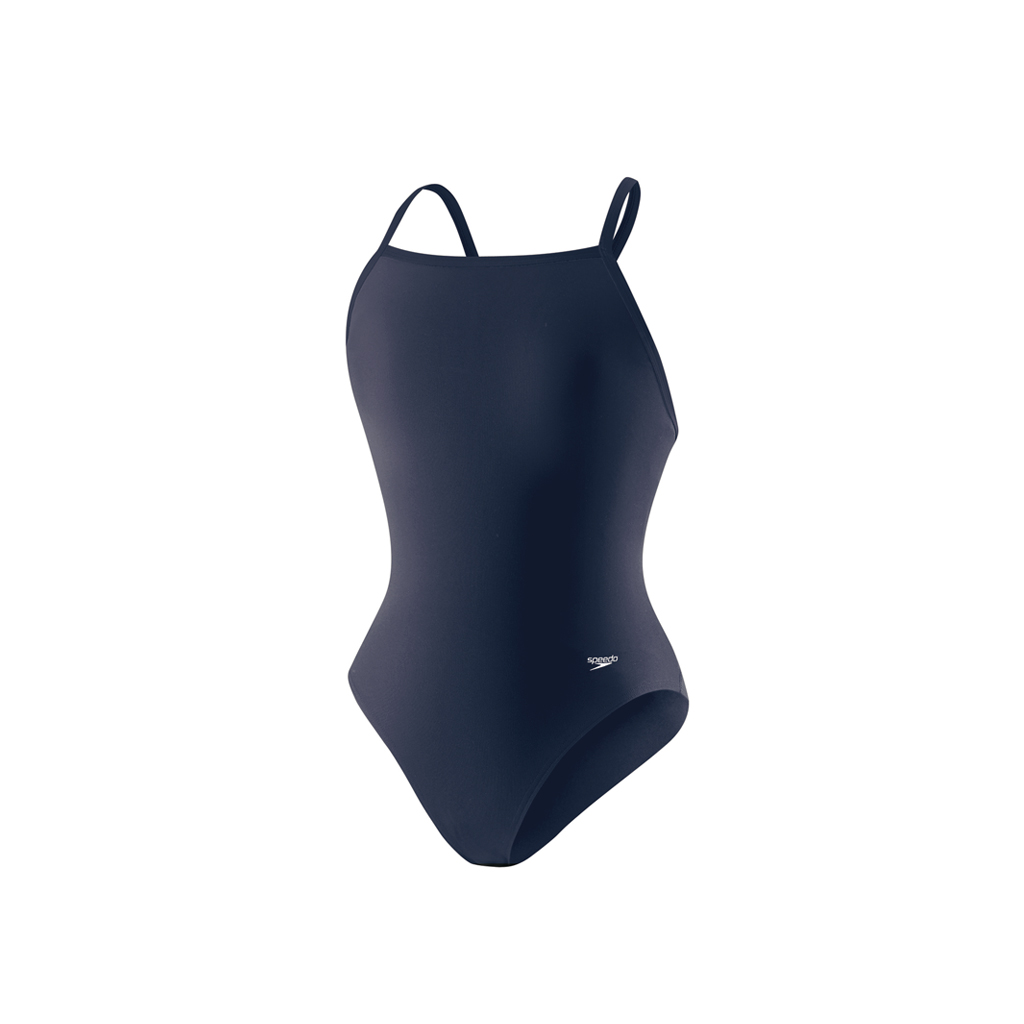 SPEEDO FLYBACK SWIMSUIT NAVY (28)