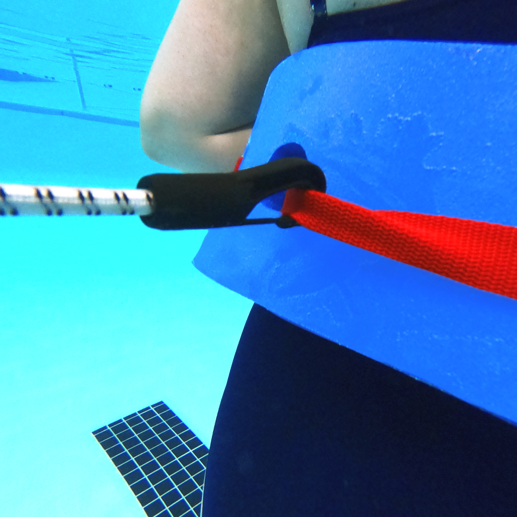 STATIONARY AQUAJOGGING TETHER