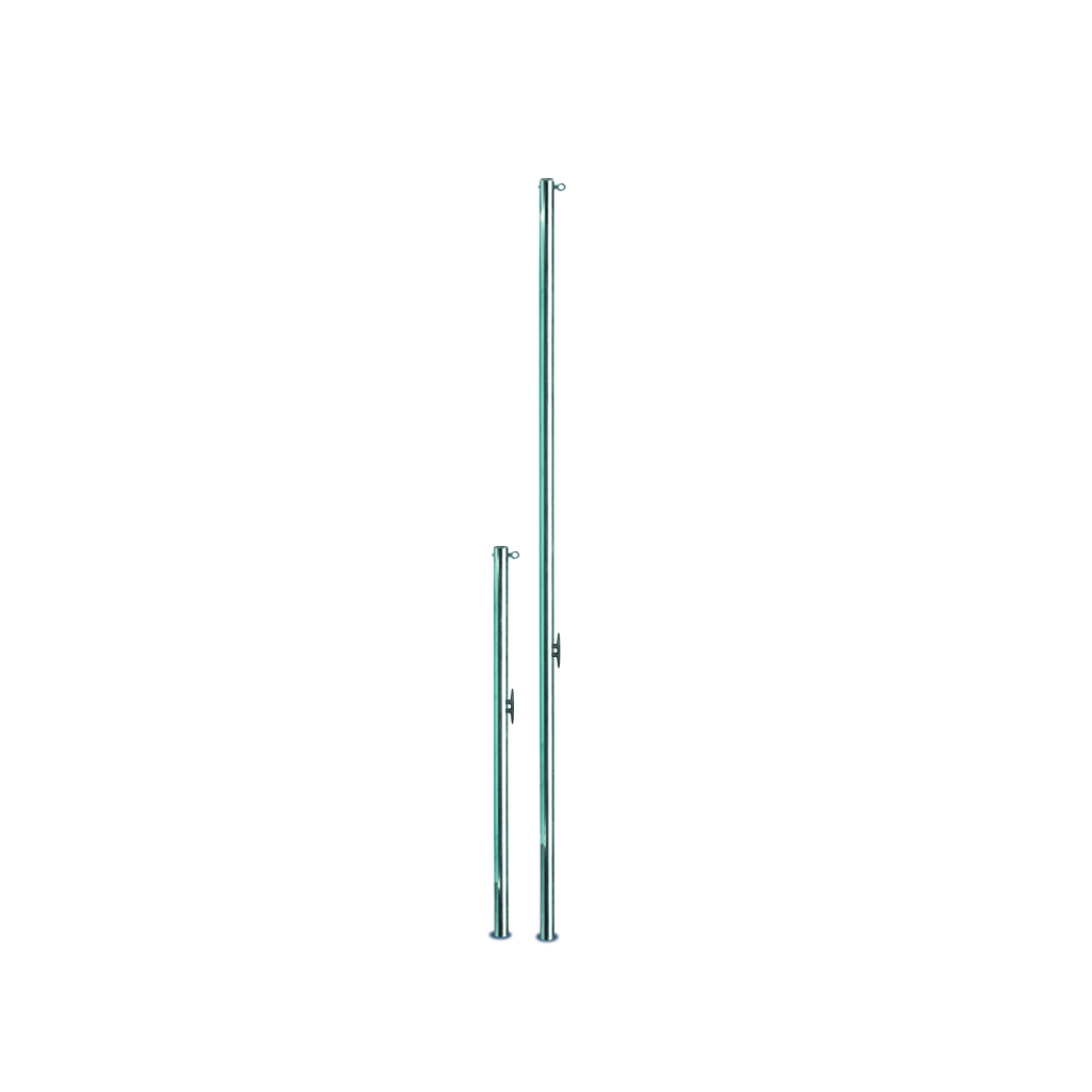 STANCHIONS FOR RECALL LINES WITH EYEBOLT AND CATCH