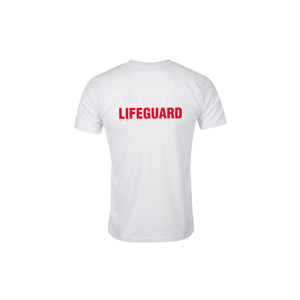 "WHITE TECH T-SHIRT "" LIFEGUARD "" (XL)"