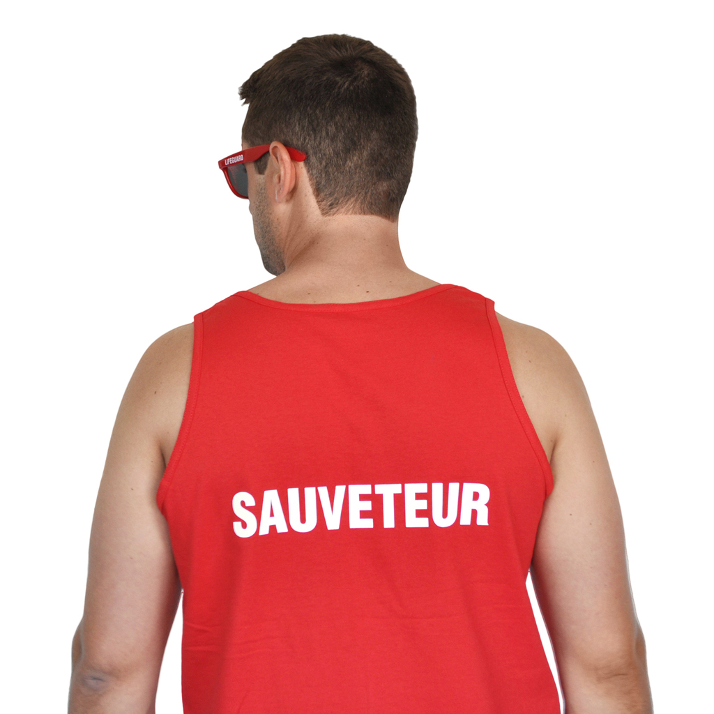 "RED TANK TOP "" SAUVETEUR "" (XL)"