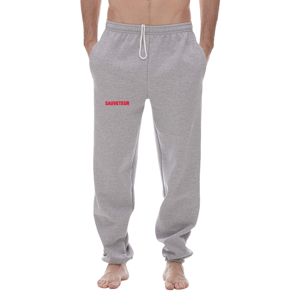 "GREY ""SAUVETEUR"" SWEATPANTS (M)"
