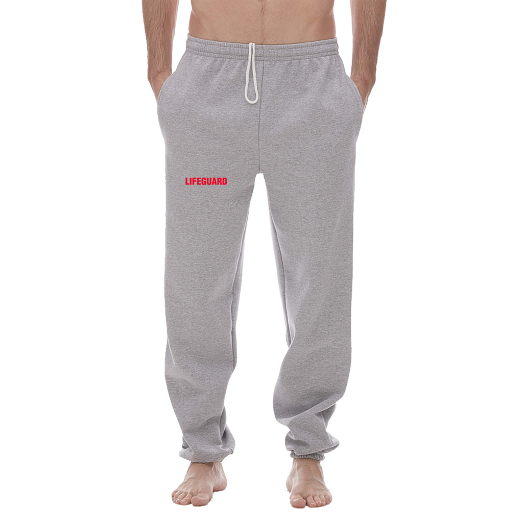 "GREY ""LIFEGUARD"" SWEATPANTS (XL)"